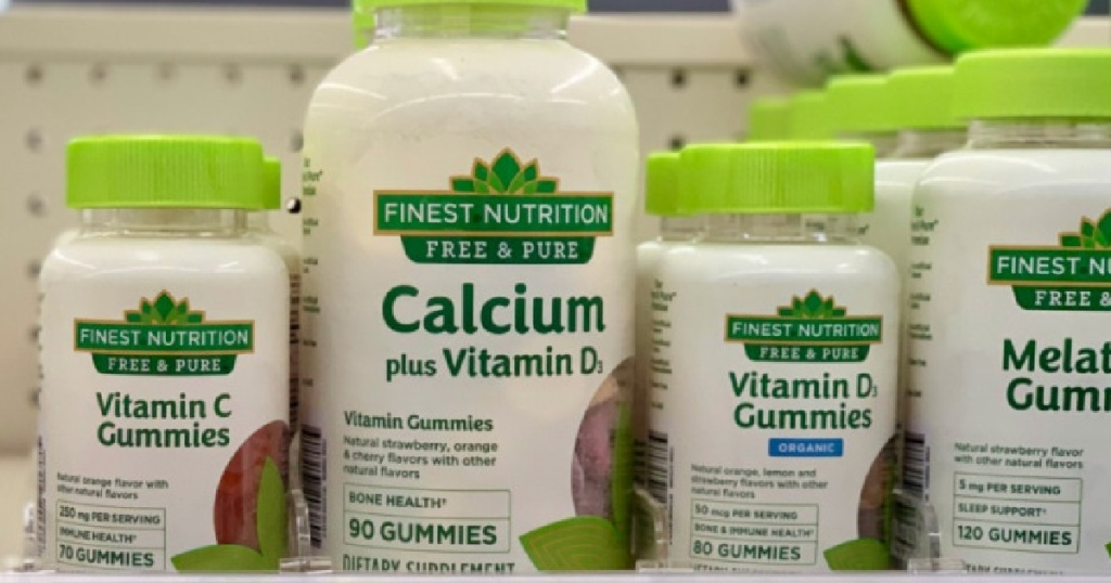 vitamins on shelf