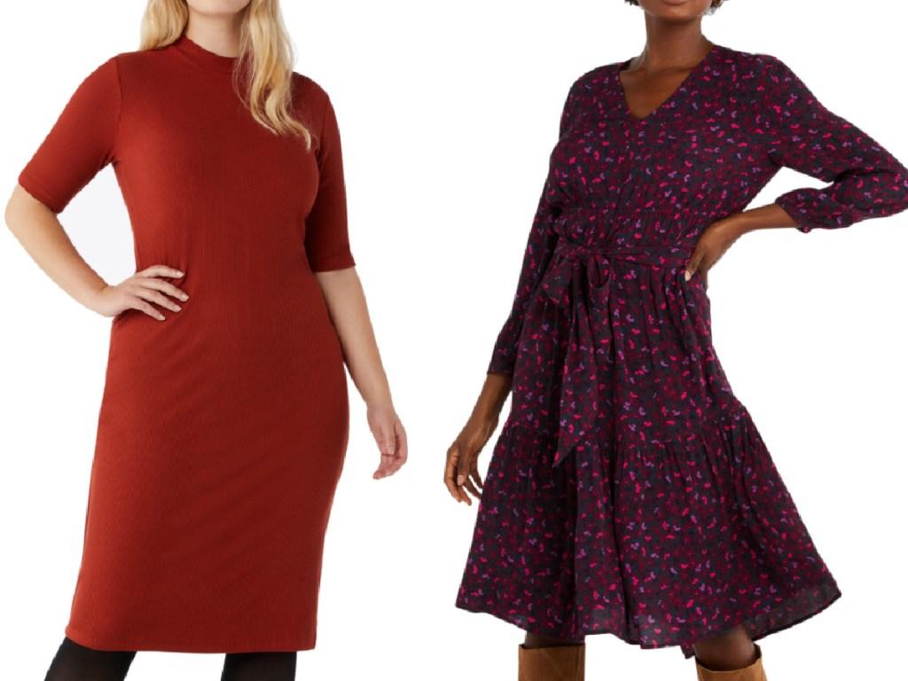 2 women's free assembly dresses