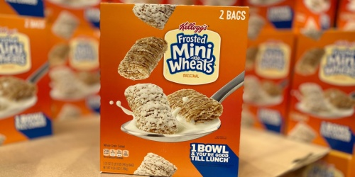 Kellogg's Frosted Mini Wheats Cereal 2-Pack Just $5.59 at Costco
