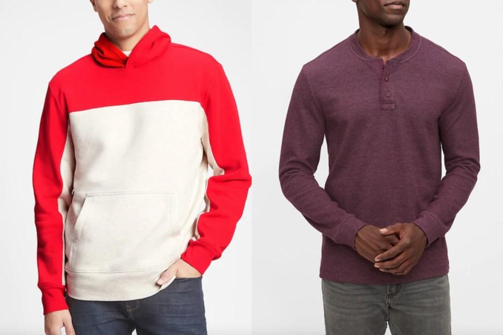 GAP mens hoodie and shirt