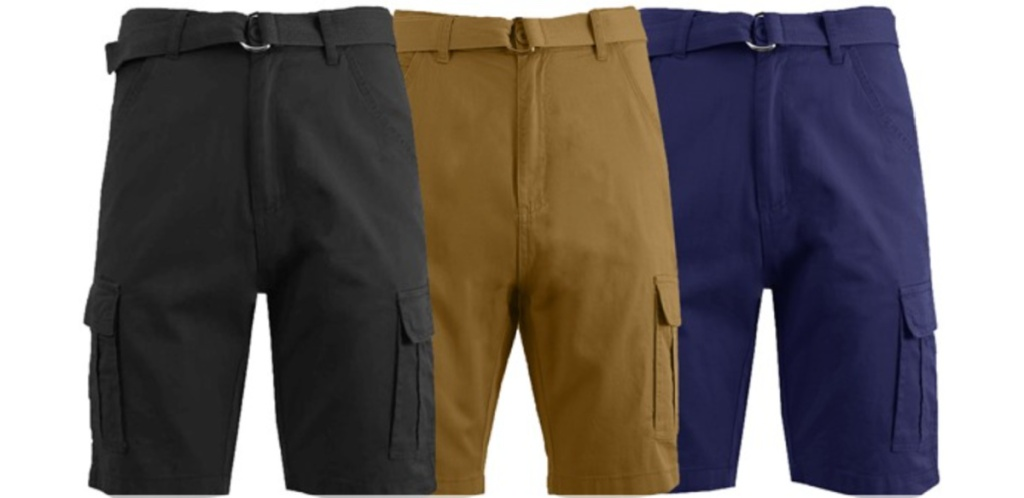 galaxy by harvic men's cargo shorts