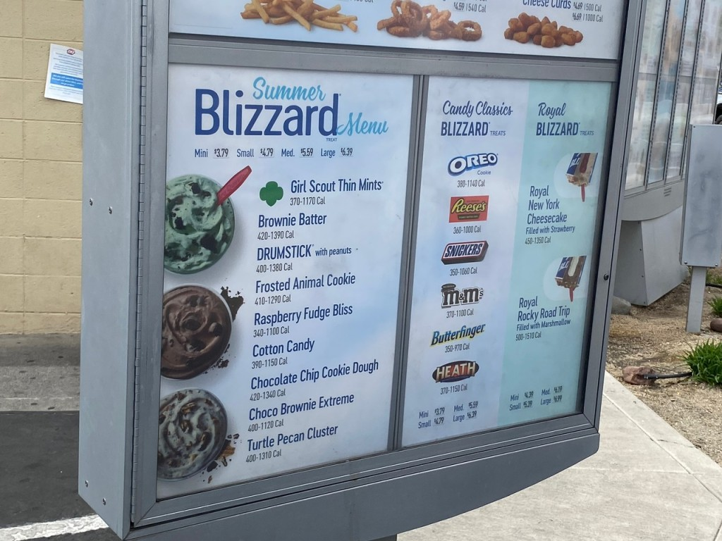 Girl Scout Blizzards on Dairy Queen Menu