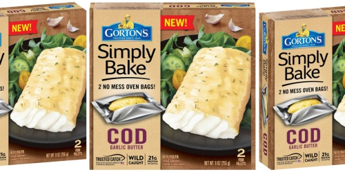 50% Off Gorton's Simply Bake Cod Fillets at Target | Includes Oven Bags