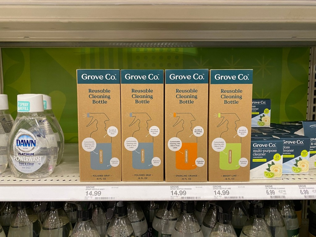Grove Co Reusable Cleaning Bottles