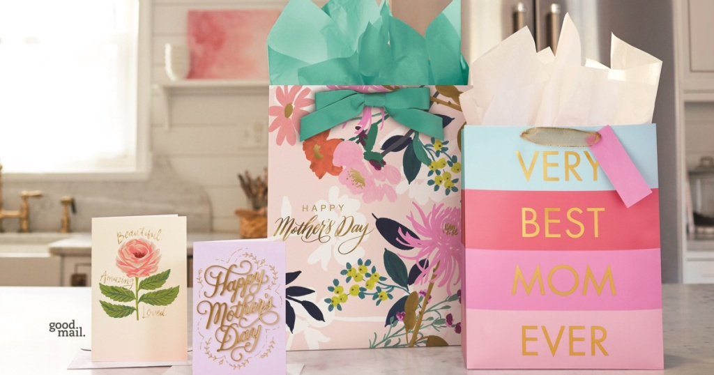 Hallmark Mother's Day gift bags and cards