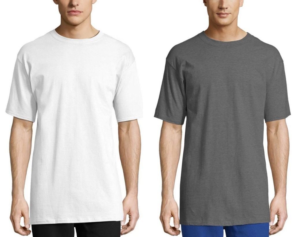 2 colors Hanes Beefy-T Adult TALL Tees