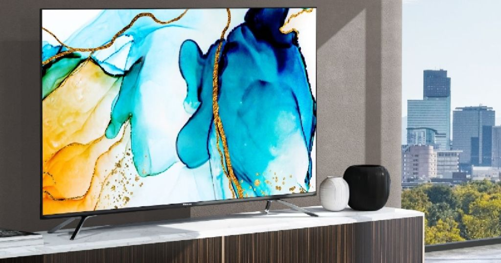 "Hisense H8G 55"" Quantum TV in media room"