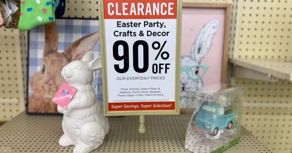 Hobby Lobby 90% off Easter Clearance