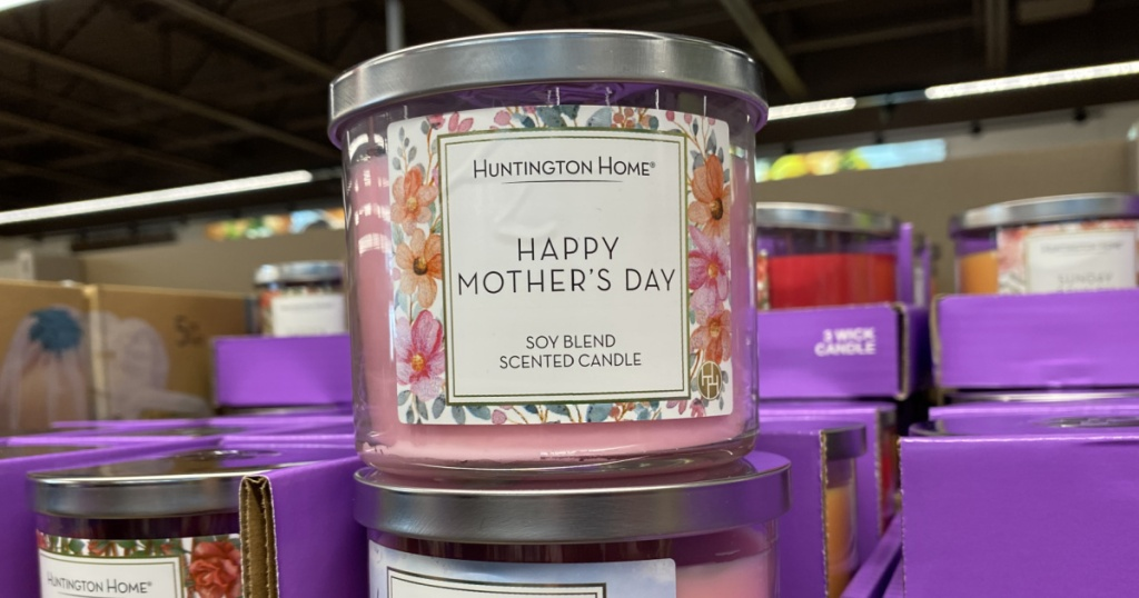 Huntington Home Mother's Day candles on display