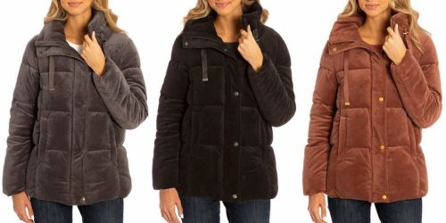 Isaac Mizrahi Ladies Velvet Puffer Jacket Only $11.97 Shipped for Costco Members