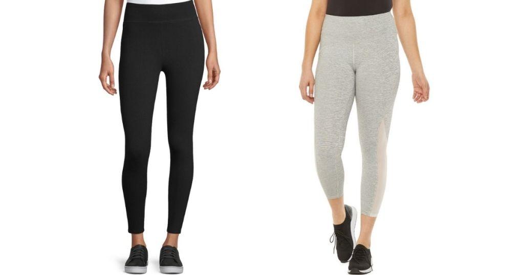 two women wearing leggings