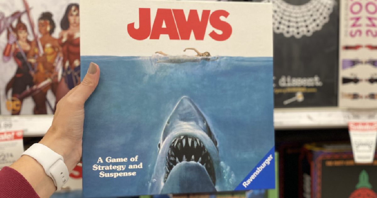 hand holding jaws game at target