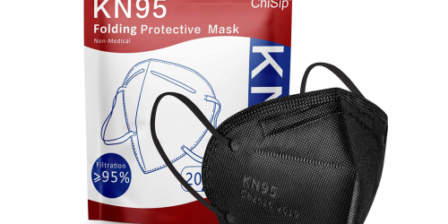 KN95 Face Mask 20-Pack Only $3.60 on Amazon | Just 18¢ Each