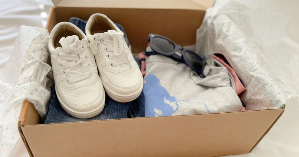 Box of kids clothing