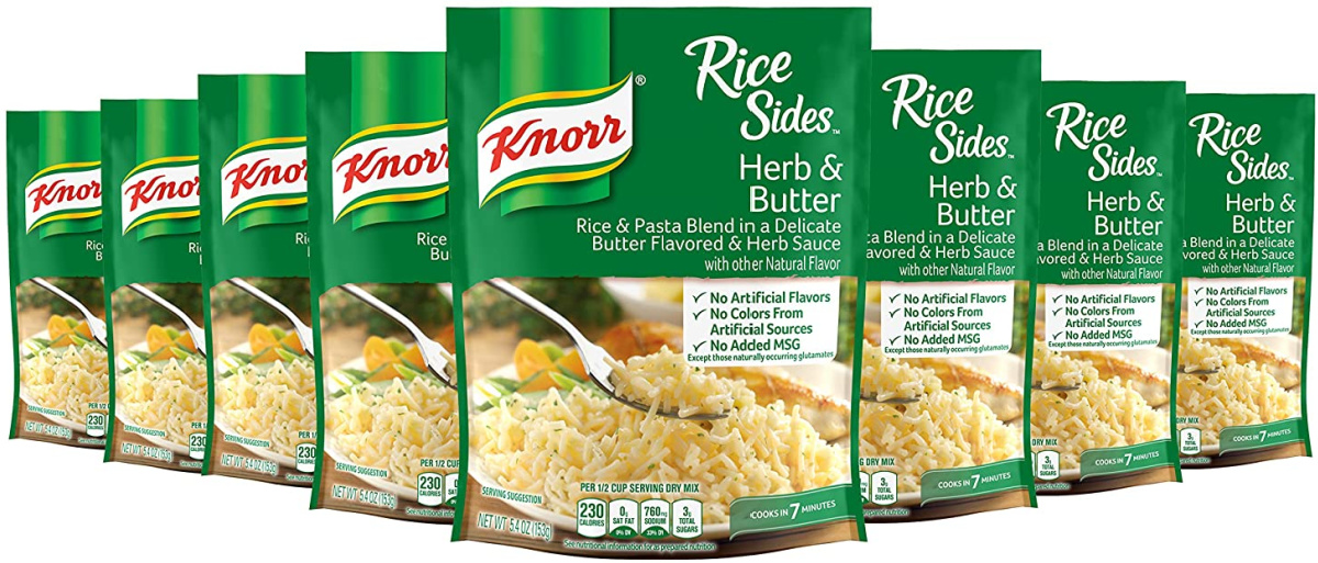 8 packets of rice side dish