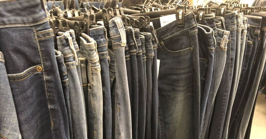 Kohl's Denim hanging in store
