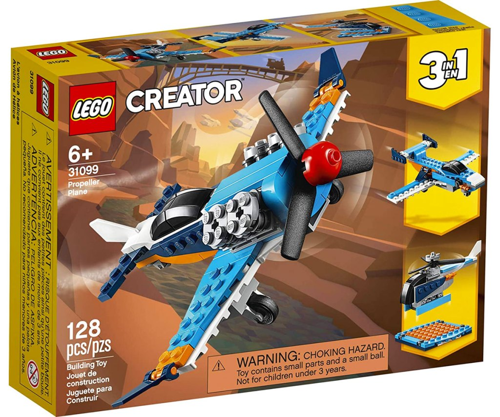 box for theLEGO Creator 3-in-1 Propeller Plane Building Kit