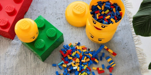 LEGO Heads Stackable Storage Bins from $7.99 on Amazon