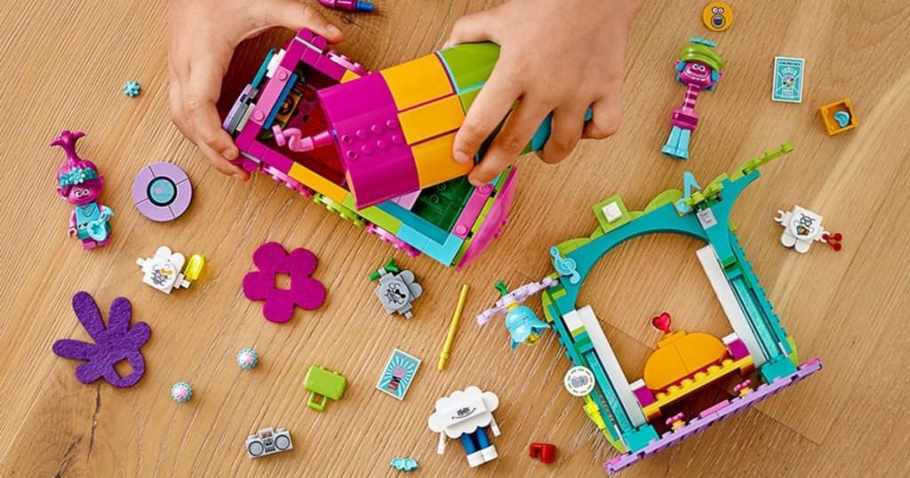 LEGO trolls bus pieces