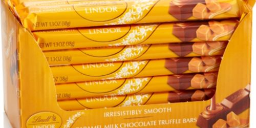 Lindt Lindor Caramel Chocolate Truffle Bar 24-Pack Only $16.83 on Amazon (Regularly $35)