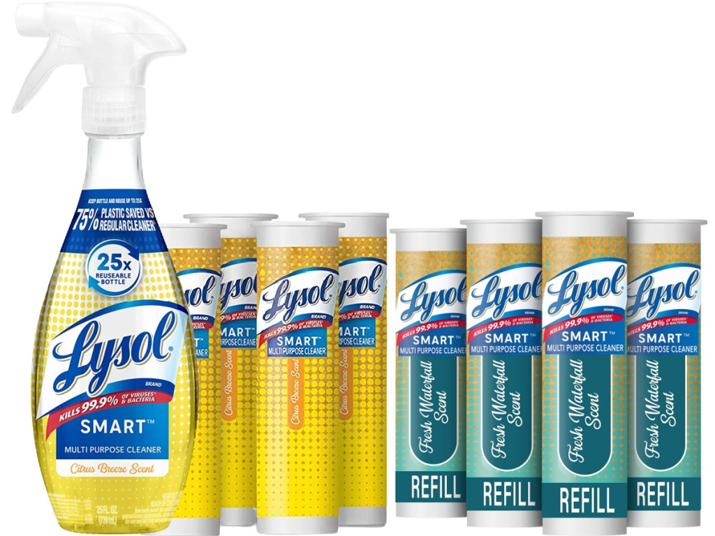 Lysol Smart Multi-Purpose Cleaner Kit with 4-Pack Refills