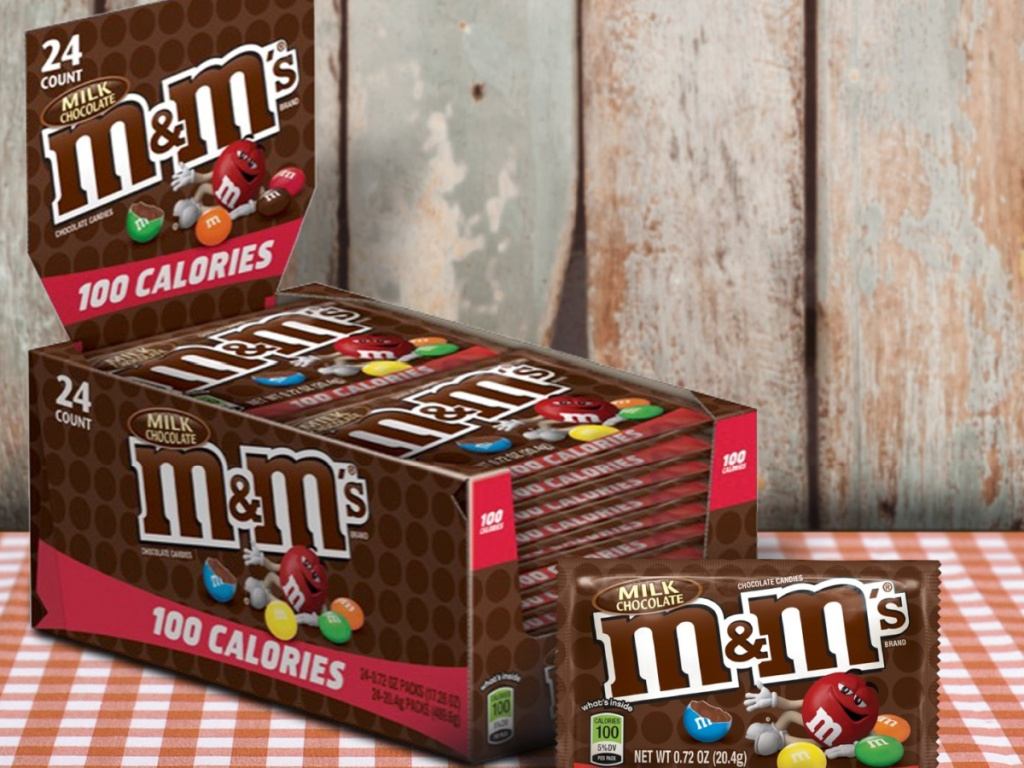 large box of 100 calorie M&M's