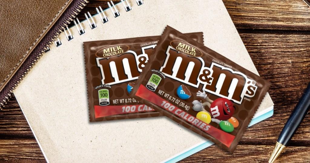 M&M 100 calorie packs