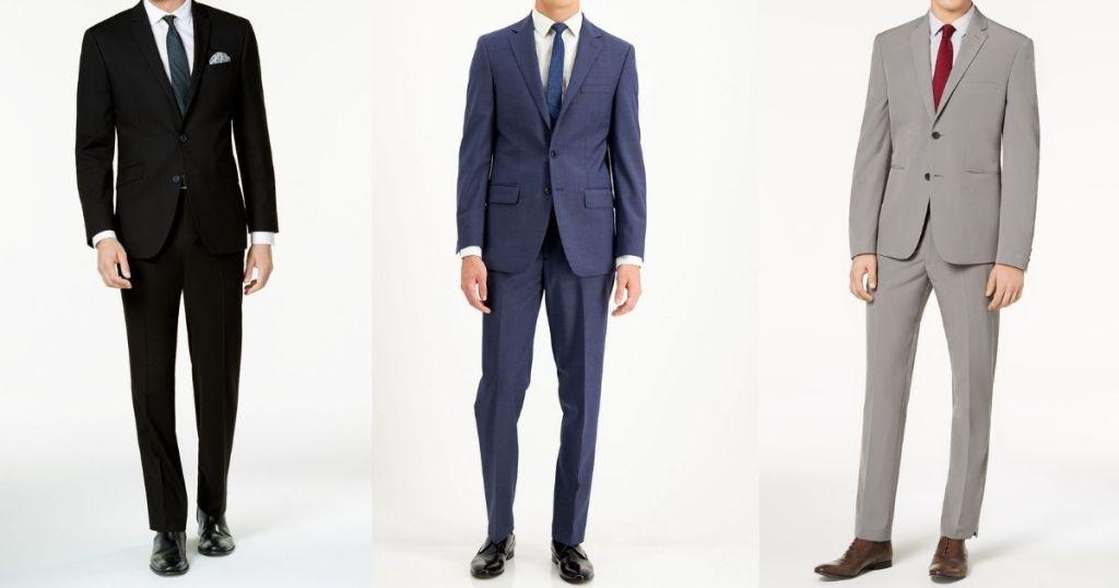 three men wearing suits