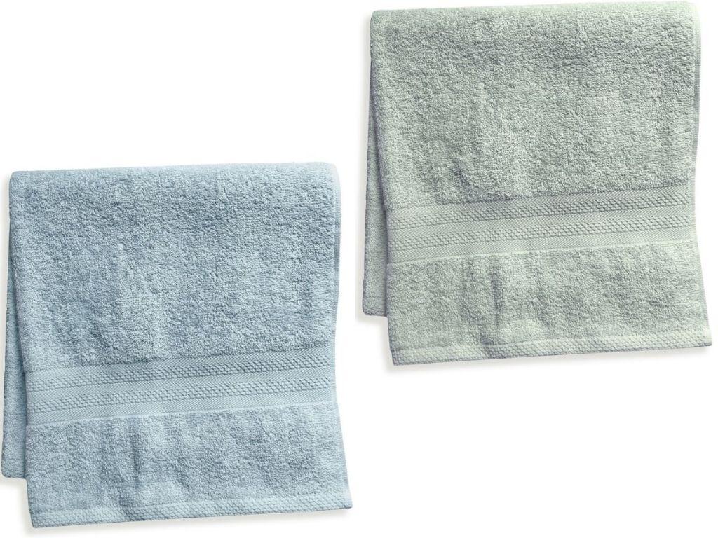 two bath towels