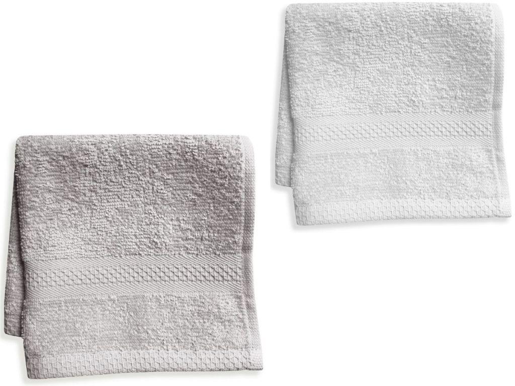 two washcloths