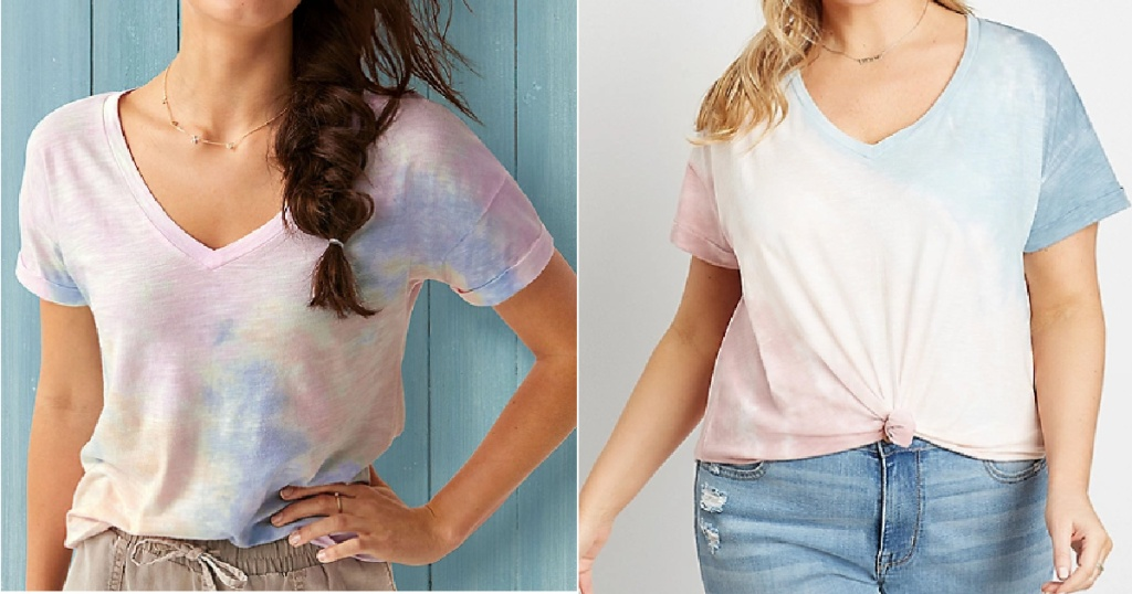 two ladies wearing maurices Tie-Dye Shirts