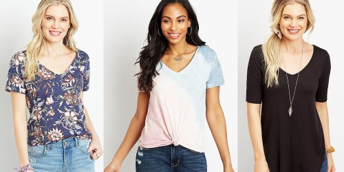Maurices Women's Tees Only $12 (Regularly $23) | Includes Trendy Tie-Dye Tees!