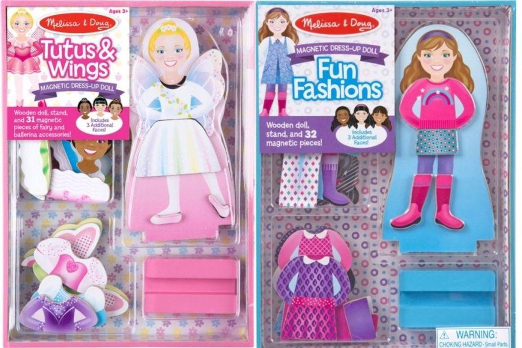 2 Melissa & Doug Magnetic Dress-Up Doll Playsets