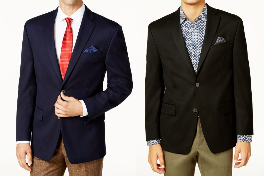two men in navy and black blazers