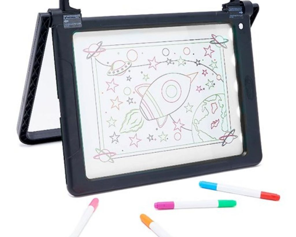 Mindscope Double-Sided Art Board with markers