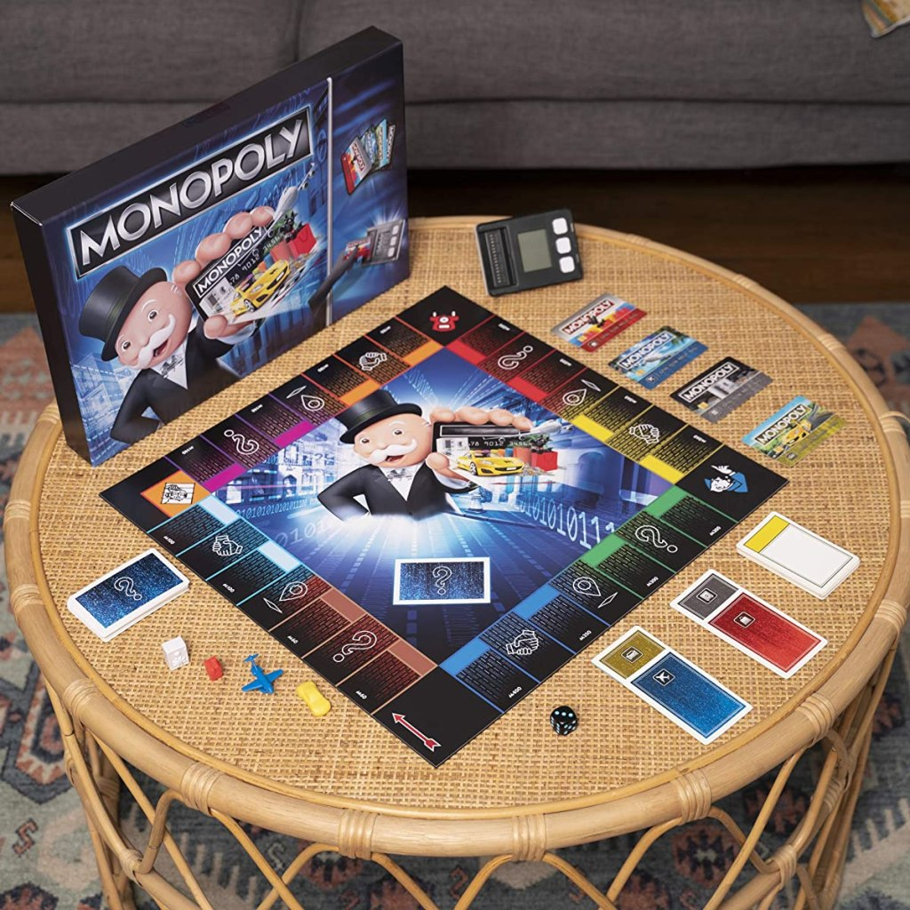 Monopoly Electronic Banking Game on a table