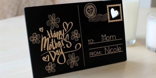 Mother's Day Engraved Wood Postcard w/ Easel Only $9.99 Shipped (Regularly $24) + More Personalized Gifts