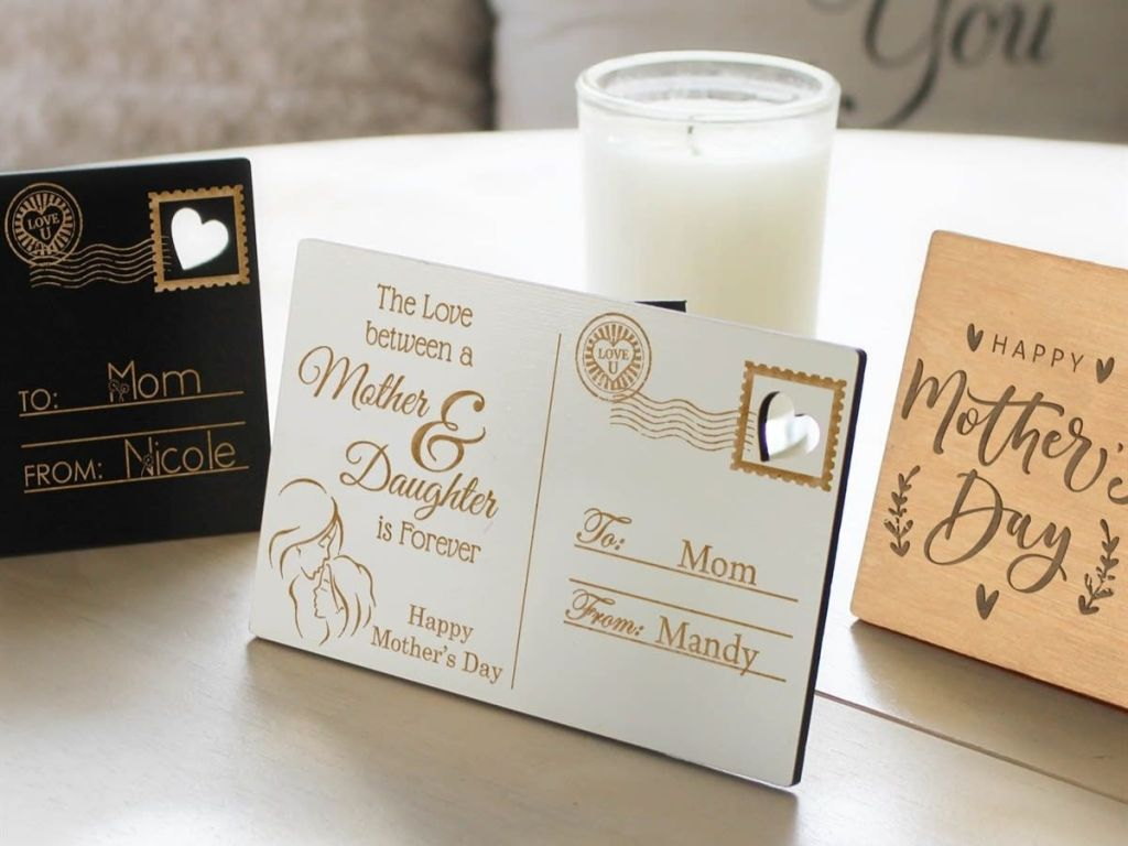 Mother's Day Postcard Tabletop Decor