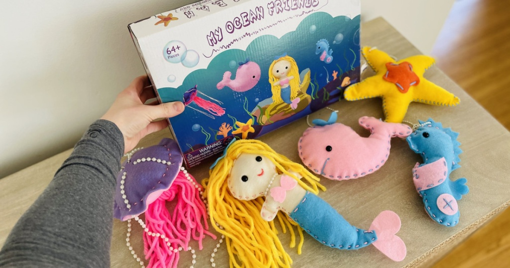My Ocean Friends sewing kit contents