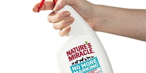 Nature's Miracle Pet Stain & Odor Remover Only $3 Shipped on Amazon | Deters Pets from Marking