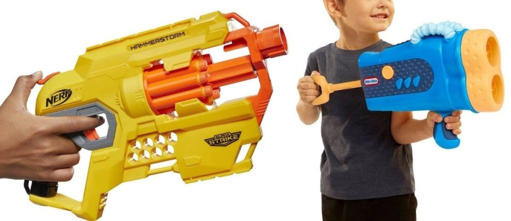 Nerf and Little Tikes Blasters