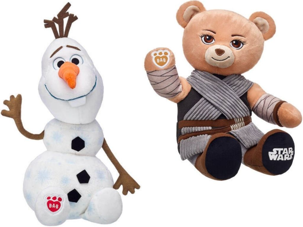 Olaf and Star Wars rey Build A Bears
