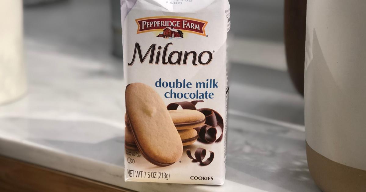 Pepperidge Farm cookies in a package