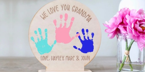 Personalized DIY Handprint Sign Only $19.99 Shipped (Regularly $28)