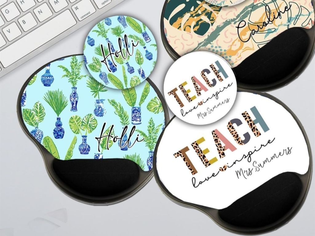 Personalized Mouse Pad and Matching Coaster