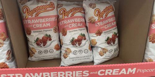 Popcornopolis Strawberries & Cream Gourmet Popcorn Only $3.99 at Costco