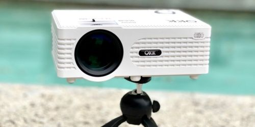 HD Mini Projector Only $62.99 Shipped on Amazon | Includes Portable Tripod & Remote