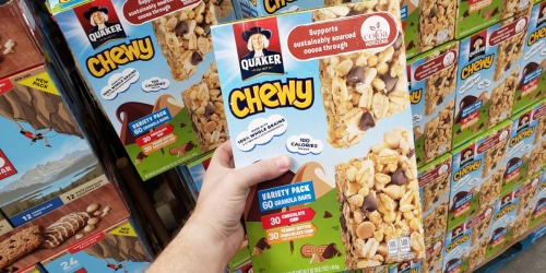 Quaker Chewy Granola Bars Variety Pack 60-Count Only $5.49 at Costco