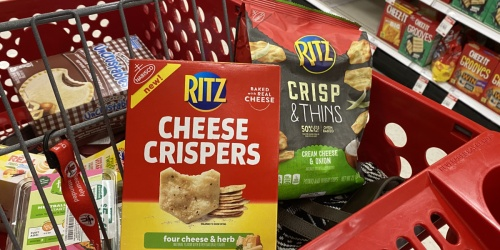 Ritz Cheese Crispers & Chips Just $1 Each After Cash Back at Target | In-Store & Online