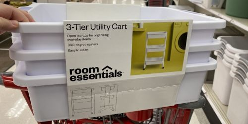 Room Essentials 3-Tier Rolling Utility Cart Only $16 on Target.com